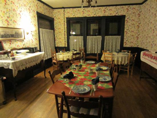 River Run Bed & Breakfast: Dining area (for breakfast)