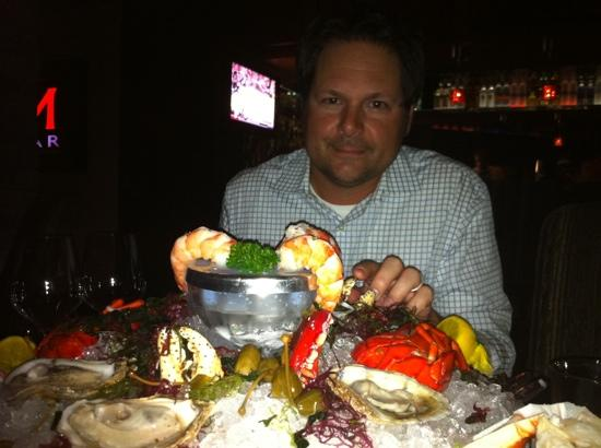 Costa Mesa, CA: seafood tower is as fresh as it can be.