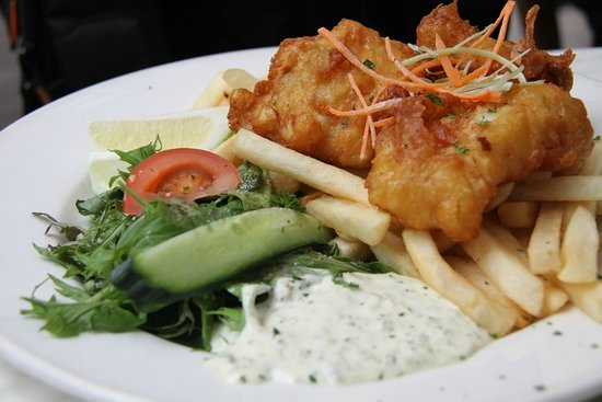 The Occidental Belgian Beer Cafe : Fish and chips