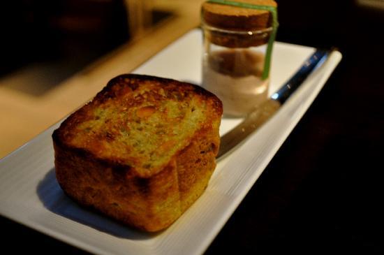 Takazawa: Basil and pine nut bread with Okinawa pork pate