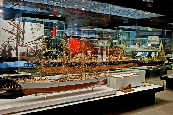 Swiss Museum of Transport: A display of boats