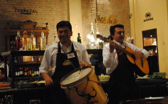 Waiters at La Lenita, Salta