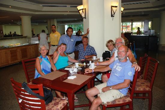 Movenpick Resort Taba : Met Mahmoud in het hoofdrestaurant