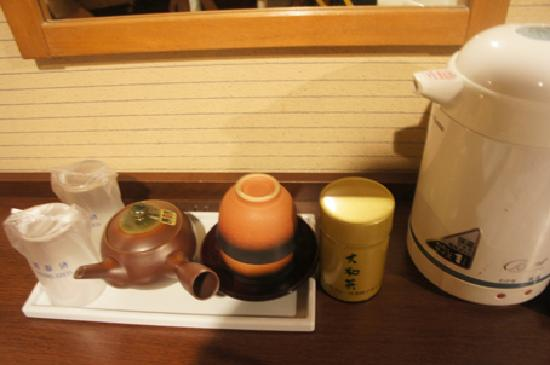 Hotel Asyl Nara Annex: ポットやお茶など