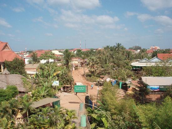 Siem Reap Garden Inn: View from my room.