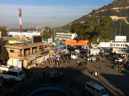 Hotel Krishna: View from top floor