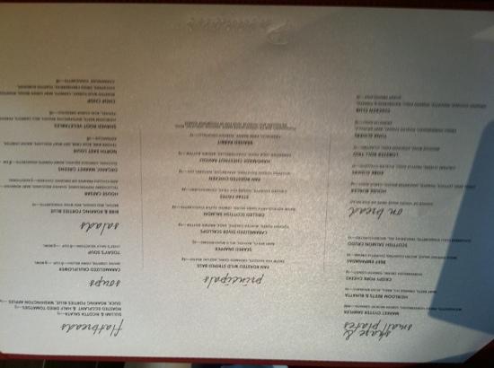 Wayne Hotel: menu