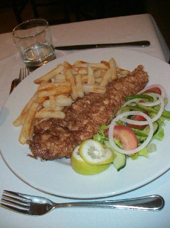 Wilderness Beach Hotel: Abendessen im Restaurant Fish and Chips