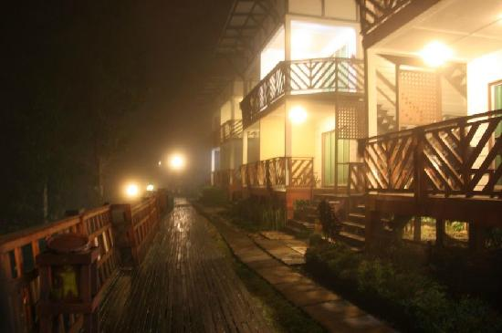Celyn Resort Kinabalu: Night view of the hotel.