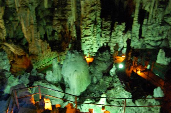 Dikteon Cave: Looking down from the top.