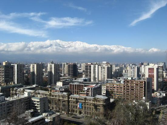 Santiago de Chile, view from Sta.Lucia