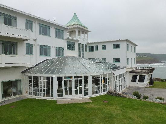 Burgh Island Hotel : The Bar from the rear