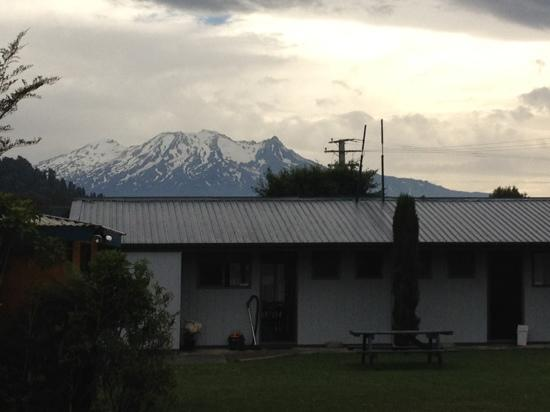 Ohakune Court Motel: view from our downstairs cabin