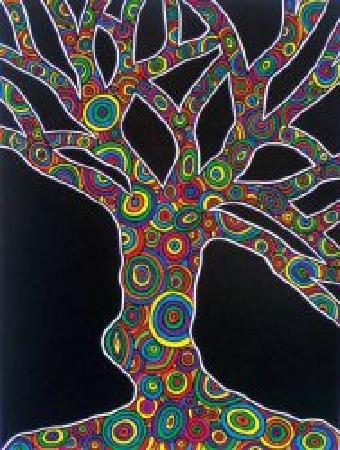 "Full Circle Studio and Gallery: ""Tree of Life"" artwork by Sue J Krucker"