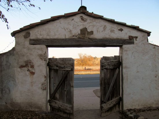 San Miguel, CA: Mission cemetary gates