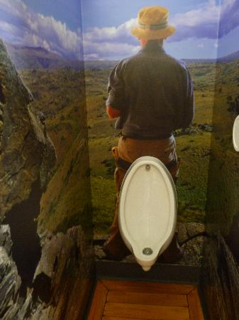 Queenstown Holiday Park & Motel Creeksyde: The Men's Cubicle Artwork