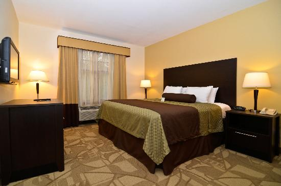 BEST WESTERN PLUS The Inn & Suites At the Falls: King Suite Bedroom