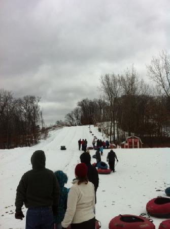 christmas mountain village tubing run - Christmas Mountain Tubing