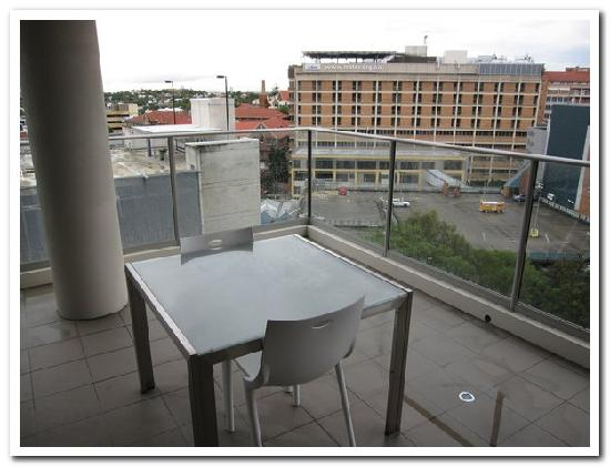 Quest South Brisbane: Part of the large balcony
