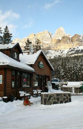 Castle Mountain Chalets: Front Desk..Groceries, Liquor