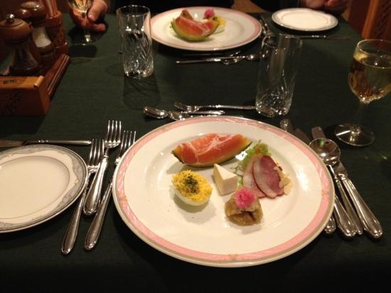Hotel Chobosanso : 夕食1