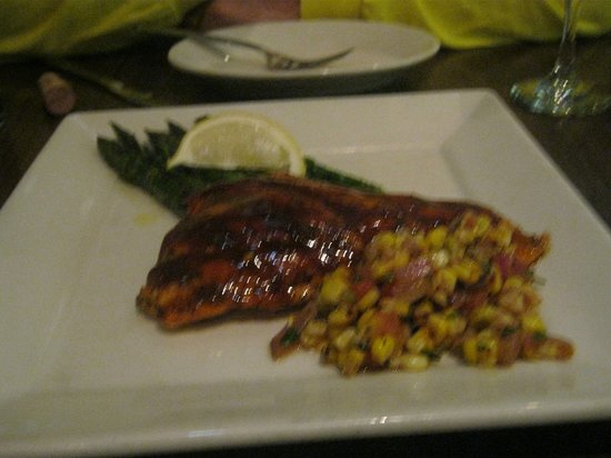 Chester's : Arctic char with corn salsa
