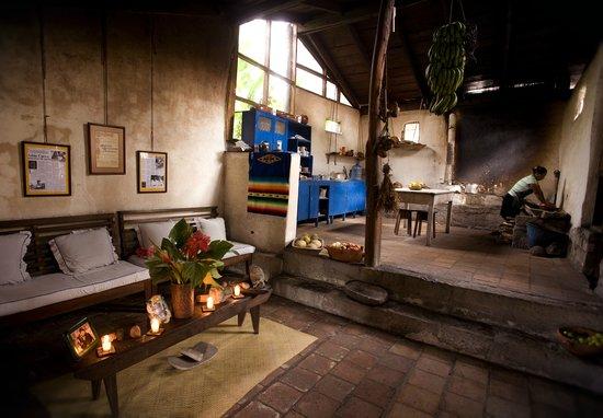 Hacienda San Lucas : Open hearth kitchen..