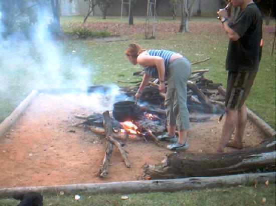 Twana Lodge : communal tae at the lodge ,,lamb stew ,delishhhhh