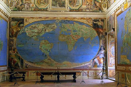 Caprarola, อิตาลี: sala del Mappamondo