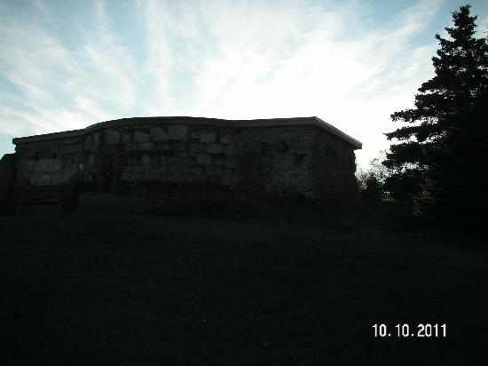 York Redoubt National Historic Site: One of the bunkers.