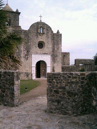 Quarters at Presidio la Bahia: View of the old Church