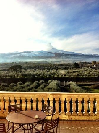 Randazzo, Italy: la vista che si gode dalla terrazza