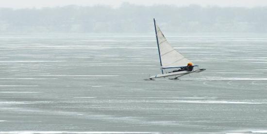 South Shore Inn - Clear Lake: Ice Sailing