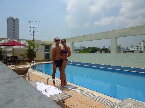 Fragrance Hotel - Selegie: Us at the pool 2