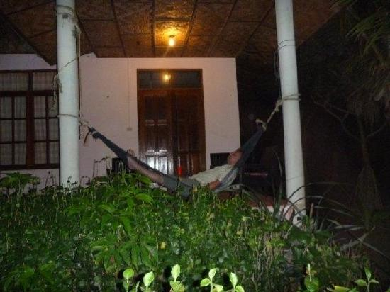 Hornbill Hut: Hammock on the bungaow's terrace