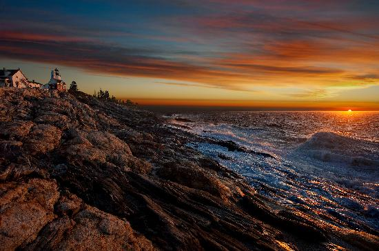 Pemaquid Point Lighthouse: Just try to find a more beautiful spot to watch a sunrise...