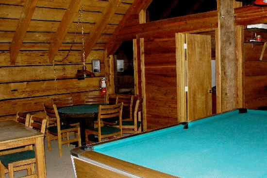 Teton Teepee Lodge: Upstairs gameroom