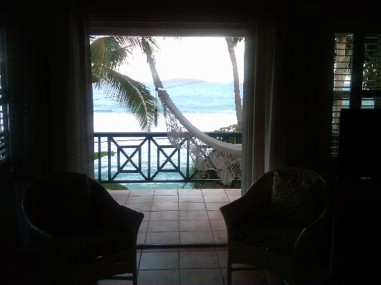 Sugar Mill Hotel: Looking out the doors in my room