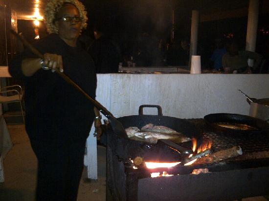 Fish Fry at Smith Point: Frying fish!