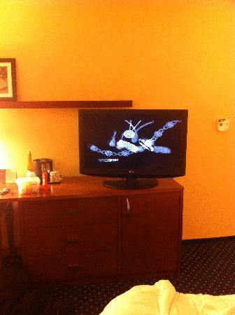 Courtyard Tarrytown Greenburgh: flat screen tv in room