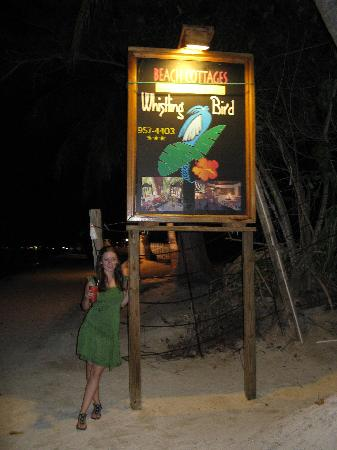 Whistling Bird Resort : beach sign