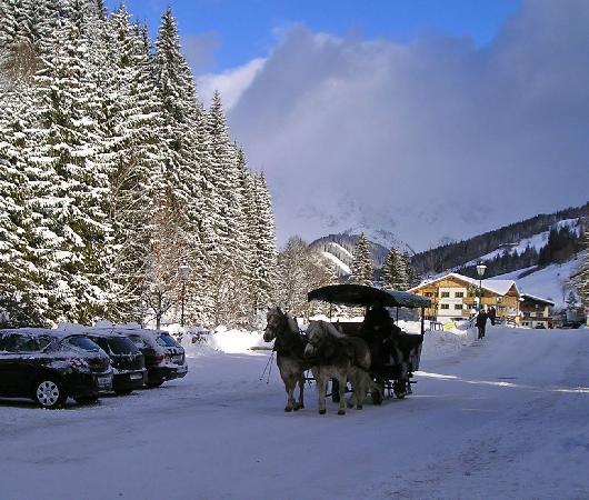 Hotel Bischofsmutze: A sleigh ride in the village