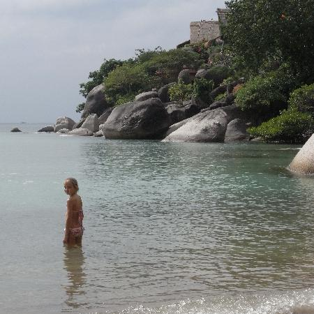 Koh Tao Cabana: safe swimming in front of resort, magic