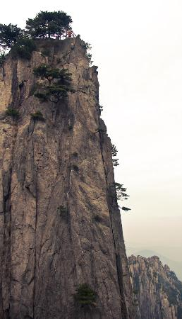 Tourist on top of Shixin Peak