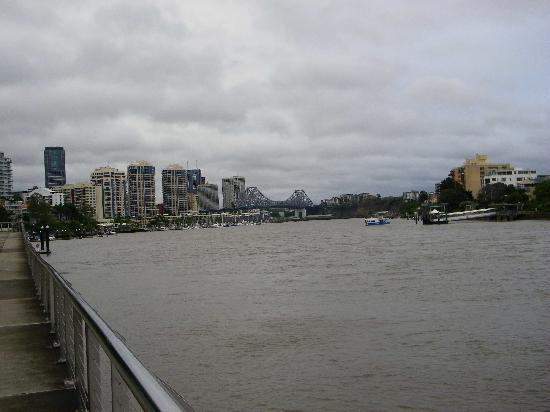 The View if you continue walking north from Mowbray park CityCat Ferry Terminal of the Story Bri