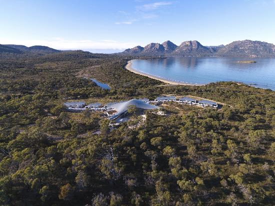 Saffire Freycinet: the hotel from the air
