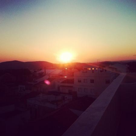 Loule Jardim Hotel: sunset from the terrace of my room