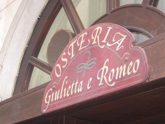 Osteria Giulietta e Romeo: Entrata