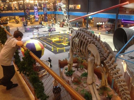 Science Museum Oklahoma: dinosaur, rocket, hot air balloon, Segway track, and more...