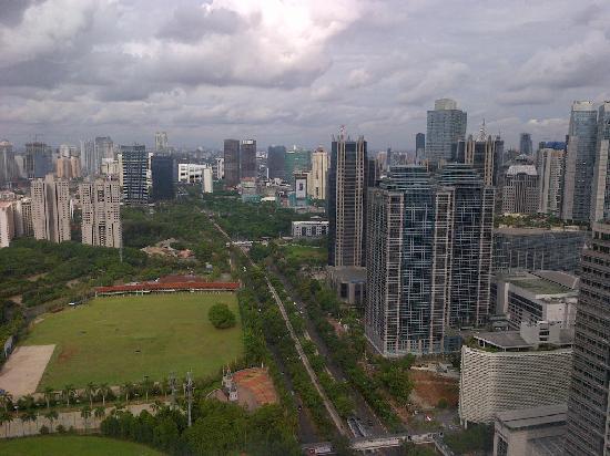 HARRIS Suites FX Sudirman: view from bathroom on 45th floor